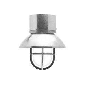 Kaj loft chrome E27 removable shade ceiling mount opacue glass