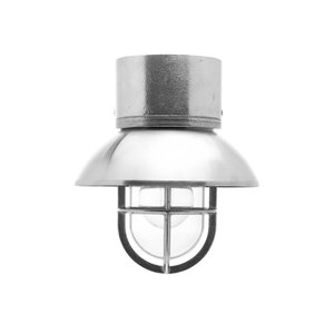 Kaj loft chrome E27 removable shade ceiling mount clear glass