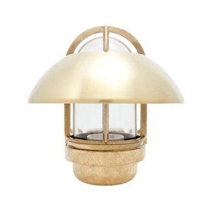 Koster brass 75W E27 fixed shade clear glass