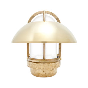 Koster brass 75W E27 fixed shade opaque glass
