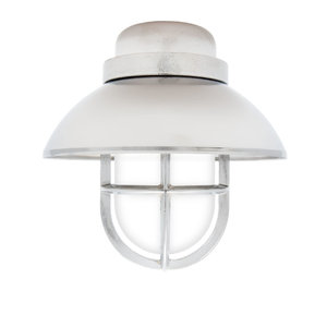 Koster chrome 75W E27 removable shade opaque glass