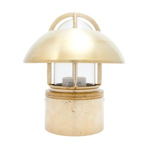 Kaj loft brass E27 fixed shade clear glass