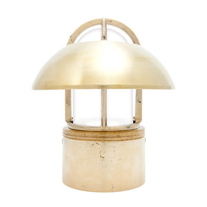 Kaj loft brass E27 fixed shade opaque glass